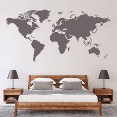 World Map Wall Sticker Decal. Transform your walls with this fantastic world map wall decal from Icon Wall Stickers. Available in 36 colours and a range of sizes. Premium wall sticker available in 8 sizes and 37 colours Wall Stickers World Map, World Map Wall Decor, World Map Wallpaper, World Map Wall Art, World Map Poster, Office Wall Decals, Water Color World Map, Poster Design, Vinyl Wall Art