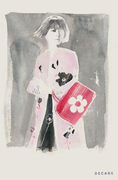 Bernadette Pascua illustration: Prada Spring 2013 campaign