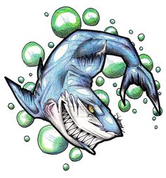 Shark Tattoo Design by miss-fenris on DeviantArt Graffiti Text, Graffiti Drawing, Street Art Graffiti, Animal Sketches, Animal Drawings, Art Sketches, Shark Tattoos, Animal Tattoos, Tatoos