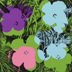 ART OF ALL FORMS, Andy Warhol - ten selections from the Flowers...