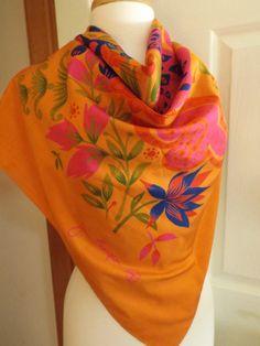 Vibrant Jim Thompson Leporad Silk Scarf, Vintage, Multi Colored, Retro  Fashion, Womens Accessory, Made in Thailand, 100% Silk, Animal Print fc265bf620