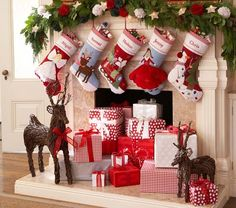 Cute alternative to presents under the tree (or in addition), especially if you have a non-working fireplace!
