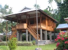 Panoramio is no longer available Rest House, House In The Woods, Bamboo House Design, Thai House, Casas Containers, Bungalow, Modernisme, House On Stilts, Tropical Houses