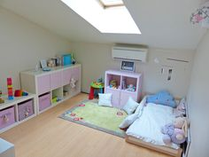 Montessori inspired bedroom. Ikea child bed hack.