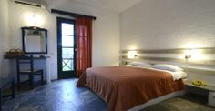 Double built in bed at Vagia hotel, Aegina island Greece...