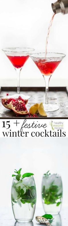 15+ festive winter cocktails | Is it wrong to say that fun and festive cocktails are one of my favorite parts of the Winter Holiday season?? Because if it is, I don't want to Winter Cocktails, Christmas Cocktails, Christmas Recipes, Christmas Cooking, Christmas Goodies, Christmas Treats, Holiday Recipes, Sangria Recipes, Drinks Alcohol Recipes