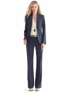 Women's Apparel: navy lightweight wool suit collections | Banana Republic