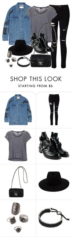 """""""Style #11277"""" by vany-alvarado ❤ liked on Polyvore featuring Julien David, Miss Selfridge, Topshop, Balenciaga, Chanel, rag & bone, Forever 21 and Links of London"""