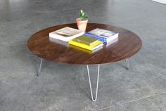 Mid Century Modern Eames Inspired Coffee Table van CoMod op Etsy
