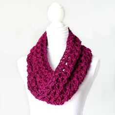 Crochet Basic Chunky Cowl Crochet Pattern - Crochet Creative Creations- Free Patterns and Instructions