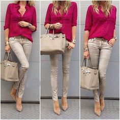 Moda in ufficio: Autunno outfits – Page 48 of 100 – Office fashion: Autumn outfits Casual Work Outfits, Mode Outfits, Office Outfits, Work Attire, Work Casual, Chic Outfits, Casual Chic, Casual Looks, Fall Outfits