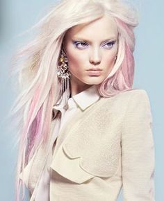 platinum blonde and pink...I think I'm going to just do it...lol