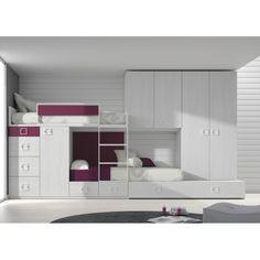 Block 50 - Bunk beds - wardrobe