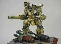 SDF Macross Tomahawk Destroid diorama
