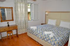 Santos Luxury Apartment no 35 in Corfu, can accommodate four or five people. Our Luxury Home is located in Dassia, just 50 meters from the Beach. Corfu Apartments, Luxury Apartments, Luxury Homes, Holiday Apartments, Luxury Holidays, Holiday Time, Vacation, Studio, Bed