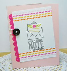 To Say Hello Card by Melissa Bickford for Papertrey Ink (July 2014)