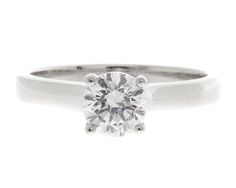 0.80ct Solitaire Diamond Ring SR1063. the centre diamond is set in an 18k white gold four claw solitaire setting.