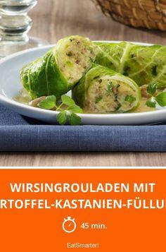 Wirsingrouladen mit Kartoffel-Kastanien-Füllung - smarter - Zeit: 45 Min.   eatsmarter.de