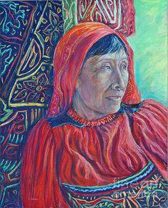 Portrait in Red by artist Li Newton