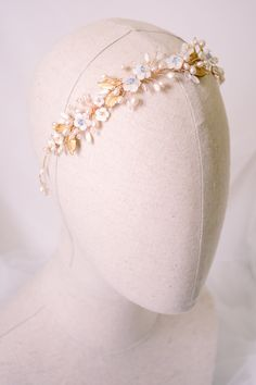bridal headpiece gold halo gold crown wedding halo wedding