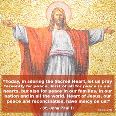 Heart of Jesus, our peace and reconciliation, have mercy on us! #SacredHeart