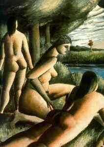 drei Nackt Frauen - (Rafael Zabaleta Fuentes)