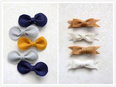 Блог BeautySpot - Заколки-бантики из фетра за 5 минут