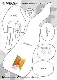 Peso de Porta de Natal - Molde e PAP de Papai Noel Peso de Porta - - Christmas Sewing, Christmas Gnome, Diy Christmas Gifts, Christmas Projects, Christmas Holidays, Christmas Decorations, Christmas Ornaments, Woodland Christmas, Christmas Knitting