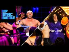 """Randy Couture shows us his workout routine with Olivia Newton-John's """"Physical"""", while Gabriel Iglesias shakes his money maker with Donna Summer's """"Hot Stuff. Fluffy Gabriel Iglesias, Randy Couture, Lip Sync Battle, Voice Actor, Popular Music, Comedians, Storytelling, Physics, Writer"""