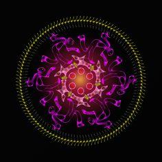 danse du feu !! fire dance !! dança do fogo !! Mandala de Pierre Vermersch Digital Drawings