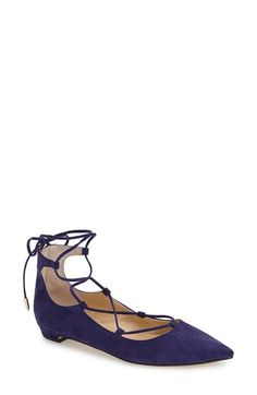 Ivanka Trump 'Tropica' Pointy Toe Ghillie Flat (Women) available at #Nordstrom
