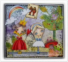 Alice in Wonderland art by Debra James