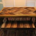 Pallet Chevron Table and a Bench