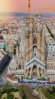 a reserved spanish colossal beauty at its highest point. Barcelona Sights, Barcelona City, Barcelona Travel, Beautiful Places To Visit, Places To See, Dubai Buildings, Madrid, Barcelona Architecture, Antoni Gaudi