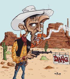 Lucky Luke Lucky Luke, Famous Cartoons, Pop Art, Wallpaper, Poster, Fictional Characters, Instagram, Illustrations, Caricatures