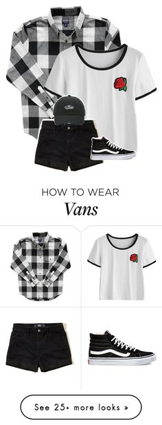 """if black is your brightest color, if hurt is your only lover, when you're lost we're lost together I'll stand by, I will stand by you"" by graciegirl2015 on Polyvore featuring Hollister Co. and Vans"