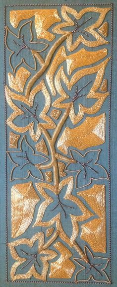 RSN certificate basic goldwork. Completed 2011 by Deborah Wilding http:/www.royal.needlework.org
