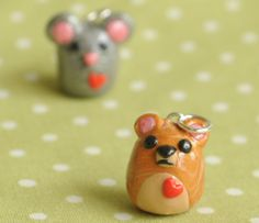 Honey Bear Polymer Clay Necklace by PumpkinPyeBoutique on Etsy, $17.00