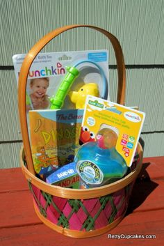 Easter baskets for a 2 year old girl on the left and a 9 month old easter basket for 2 year old boy negle Choice Image