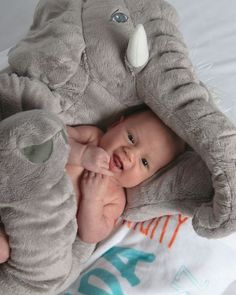 5-Color 60/40 CM Plush Stuffed Animal Elephant Baby Sleeping Back Cushion Baby Comfort Doll Toy