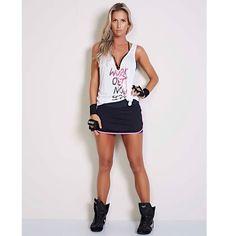 4de0b2917f Regata Fitness Colcci Fitness - Workout - look fitness com short saia e  regata