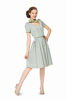 57a71d91da40 Burda 7084-- looks like a 1940 s summer dress Burda Patterns
