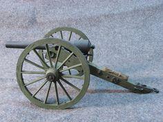 Canon américain de la guerre de sécession. Échelle 1/15 en étain. 3 pouces Parrott M1863