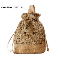 Cheap backpack tank bag, Buy Quality backpack cycling directly from China backpack school bag Suppliers: Women beach Backpack Woven Straw Bag Shoulder Bag Backpacks Summer Style Kanken Mochila Feminina Cartable Sac A Dos 20 Crochet Backpack, Bag Crochet, Drawstring Backpack, Free Crochet, Messenger Backpack, Beaded Crochet, Flower Crochet, Shoulder Backpack, Backpack Purse