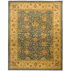 @Overstock - Bring a touch of elegance to your home decor with this chic wool rug Traditional rug made in India was hand-spun using an ancient pot dying techniqueHand-tufted area rug is highlighted with shades of gold, green, olive, ivory and bluehttp://www.overstock.com/Home-Garden/Handmade-Antique-Mashad-Blue-Ivory-Wool-Rug-83-x-11/3167229/product.html?CID=214117 $499.99