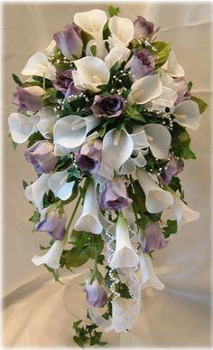 Silk brides bouquet