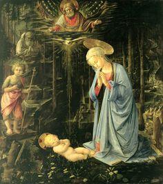 Filippo Lippi - The Adoration in the Forest (1459)
