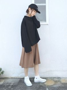 Cute Fashion, Look Fashion, Skirt Fashion, Fashion Outfits, Fall Fashion, Woman Fashion, Long Skirt Outfits, Modest Outfits, Cute Casual Outfits