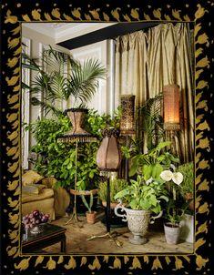 Little Venice Rooms Summer — Sera of London Boho Home, Bohemian House, Bohemian Interior, Bohemian Living, Bohemian Decor, Hygge, Dark Green Rooms, Inside Garden, Garden Of Earthly Delights
