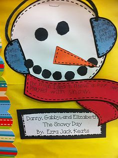 """""""We used these snowmen for main idea and detail.  I gave each group of students a """"wintry"""" book for them to read together.  Then, they came up with the main idea and details together."""""""